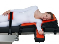 Patient on 10715 Orange Aid® Lateral Comfort Positioner