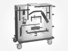 5847-07 Optional Pelvic Reconstruction Kit Equipment Cart